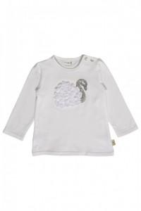 Hust & Claire Langarm-Shirt/Longsleeve Schwan weiß