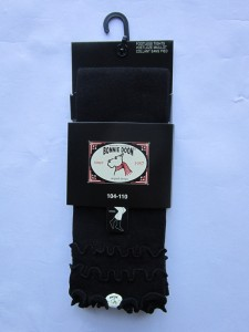 Bonnie Doon Capri-Legging Frou Frou mit Wellensaum schwarz