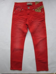 Blue Effect coloured Jeans rot