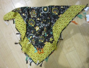 Paglie Schal/Tuch Muster braun