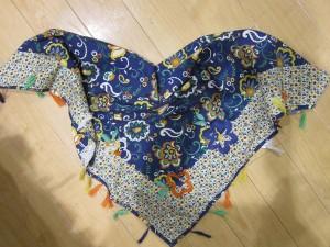 Paglie Schal/Tuch Muster blau