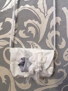MONNY Tasche passend zu Kommunionkleid BLOEM 09 ecru mit silber