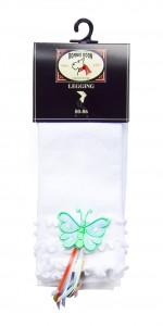 Bonnie Doon Baby Capri-Legging mit Schmetterling weiß