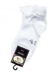 Bonnie Doon Kurz-Socken mit Spitzenborte weiß