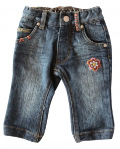 Whoopi Jeans-Hose dark blue denim