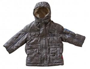 Whoopi Winter-Kapuzen-Jacke grau