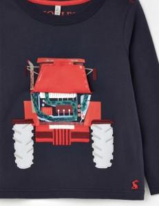 Joules Jungen Langarm-Shirt/Longsleeve CHOMP Traktor navy