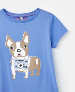 Joules Mädchen T-Shirt PIXIE Hund blau