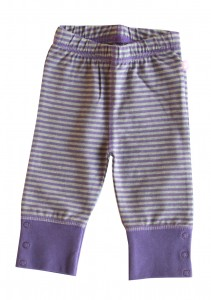 Ducky Beau Legging Streifen purple-grey melange