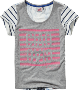 Vingino T-Shirt JARA light grey mele