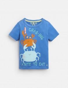 Joules Jungen T-Shirt ARCHIE Krabben blau 104- 4y