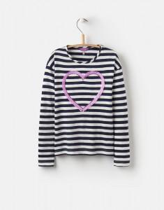 Joules Mädchen Langarm-Shirt CORA Streifen navy weiß