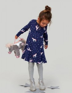 Joules Kleid JOSIE Einhorn allover navy