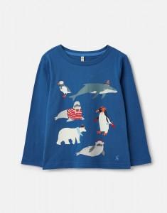 Joules Jungen Langarm-Shirt/Longsleeve RAYMOND blue