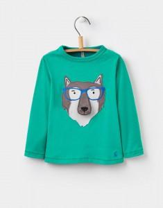 Joules Jungen Langarm-Shirt/Longsleeve WOLF grün