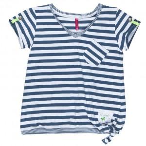 Kiezel-tje T-Shirt Blockstreifen blau