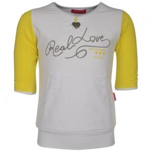 Kiezel-tje Halbarm-Shirt weiß/gelb