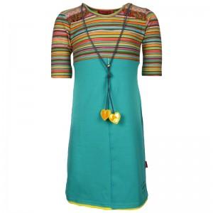 Kiezel-tje halbarm-Kleid aqua