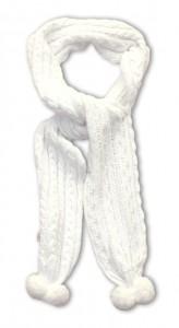 Pezzo D´oro Strick-Schal mit Pom Pom offwhite