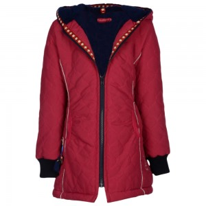 Kiezel-tje Winter-Mantel/Jacke fuchsia-blue