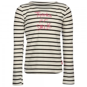 Kiezel-tje Langarm-Shirt/Longsleeve Streifen schwarz-offwhite