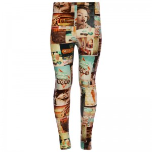 Kiezel-tje lange Legging Fifties Patch