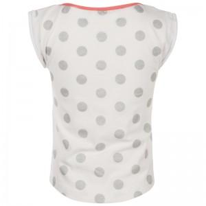 Kiezel-tje T-Shirt Punkte weiß silber