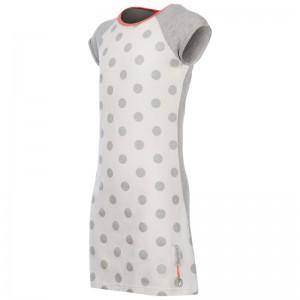 Kiezel-tje T-Shirt-Kleid Punkte weiß grau silber