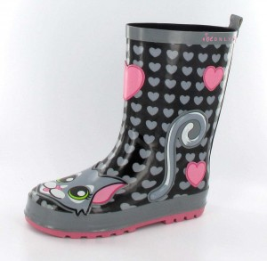 be ONLY Gummistiefel Kid Cat schwarz pink