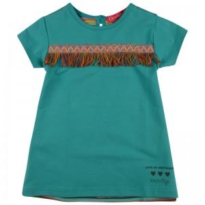 Kiezel-tje Mini Kleid aqua