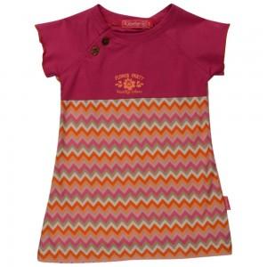 Kiezel-tje Mini Kleid zickzack pink