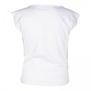 KIE stone T-Shirt/Top white Glitzer silber