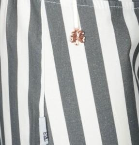 KIE stone Jersey Short Streifen grey