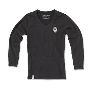 Vingino Langarm-Shirt/Longsleeve V-Neck KENIA dark grey mele