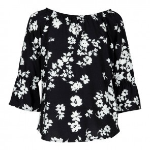KIE stone Bluse Flower black
