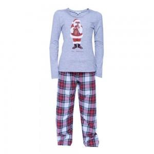 Louis & Louisa Mädchen Schlafanzug/Pyjama NIKOLAUS grau