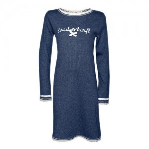 "Louis & Louisa Mädchen Nachthemd ""zauberhaft"" blau"