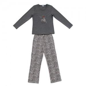 "Louis & Louisa Damen Schlafanzug/Pyjama ""Leo Hirsch"" antra"