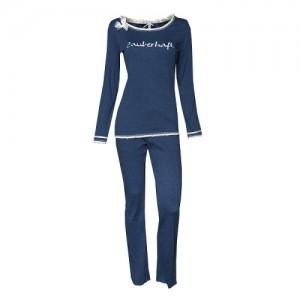 """Louis & Louisa Damen Schlafanzug/Pyjama """"Zauberhaft"""" blau"""