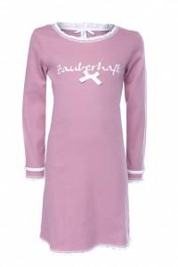 Louis & Louisa Mädchen Nachthemd ZAUBERHAFT Rippe rosa