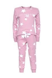 Louis & Louisa Mädchen Schlafanzug/Pyjama STERNENZEIT rosa allover