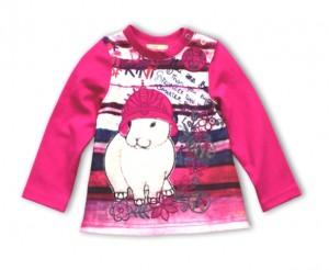 Pezzo D´oro Langarmshirt/Longsleeve Häschen pink Streifen