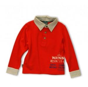 Pezzo D´oro Langarm-Polo-Shirt/Longsleeve rot