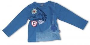 Pezzo D´oro Langarm-Shirt mit Print electric blue
