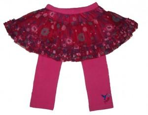 Paglie Mini Tüll/Petticoat-Rock mit Legging magenta pink