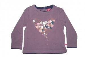Paglie Mini Langarm-Shirt/Longsleeve Sterne pflaumenblau