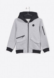 Kaporal Kapuzen-Sweat-Jacke MOUTH grey mele