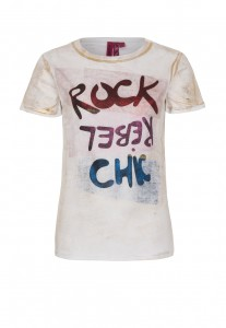 Million X T-Shirt ROCK REBEL CHIC white