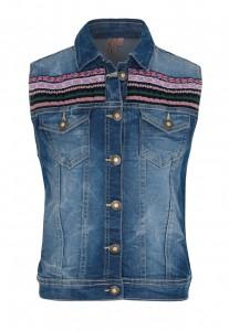 Million X Jeans-Weste blue denim
