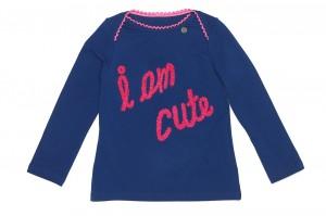 "Mim-Pi Langarm-Shirt/Longsleeve ""I am cute"" blau"